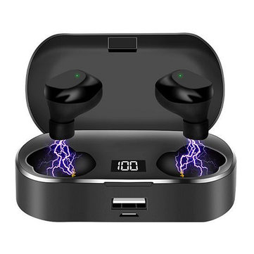 Buy X36 Digital Display bluetooth 5.0 Headphones Touch Large Capacity TWS Sports Wireless Stereo Earphone with 2600mAh Power Bank with Litecoins with Free Shipping on Gipsybee.com