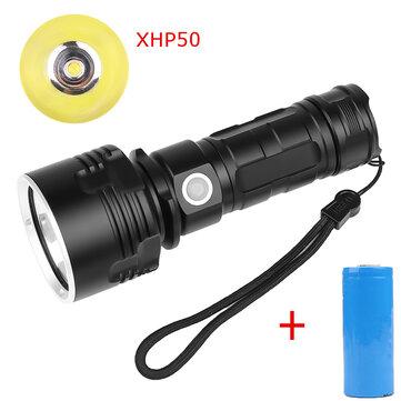 XANES XHP50 L2 1500Lumens USB Rechargeable Senter LED Suit dengan 26650 Baterai