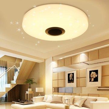 36W RGBW Starlight LED Ceiling Lamp Music Light bluetooth for Bedroom Home AC220V / AC110-240V