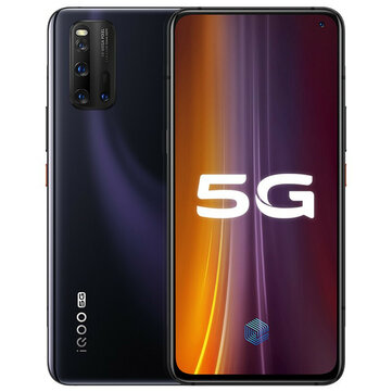 Vivo iQOO 3 5G Smartphone CN Version 6.44 inch FHD+ 180Hz Touch Sensing HDR10+ NFC 4440mAh 55W Super Flash Charge 48MP Quad Rear Cameras 12GB 128GB Snapdragon 865