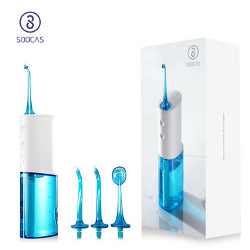[Global Version] SOOCAS W3 Portable Electric Oral Irrigator Wireless Waterproof USB Charging Water Flosser with 3 Cleaning Mode from Xiaomi Youpin