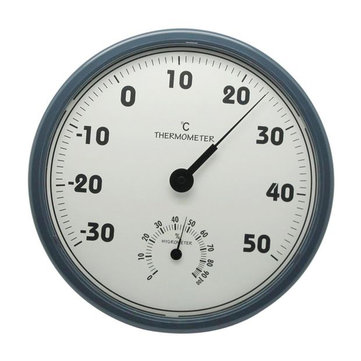 TH306 305mm 2 in 1 Large Screen Indoor Analog Thermometer and Hygrometer Instrument