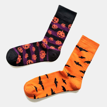 Buy Halloween Couple Socks Cotton Pumpkin Tube Socks with Litecoins with Free Shipping on Gipsybee.com