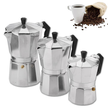 Buy Moka Pot Stovetop Espresso Coffee Maker Latte 150/300/450ML with Litecoins with Free Shipping on Gipsybee.com