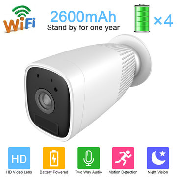 Jooan JA-IPC206 Battery Power HD 1080P IP Camera Waterproof AP Hotspot Wireless WIFI Camera Home Baby Monitors Two-way Audio Motion-detection