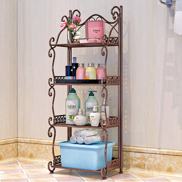 1 Piece 3/4/5 Tiers Folding Storage Shelf Nordic Minimalist Multifunctional Bookshelf Storage Racks Holders for Office Home Bedroom Bathroom Kitchen