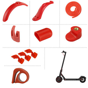 BIKIGHT 8Pcs Scooter Wheel Fender Set For Xiaomi M365/Pro Electric Scooter Front Rear Fender Hook Foot Support