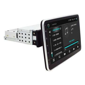 10.1 Pollici 1DIN per Android 8.1 Auto Stereo Rotazione a 360 gradi Lettore multimediale 8 Core 1 + 16G 2.5D HD Schermo GPS Navigazione WIFI FM AM Radio