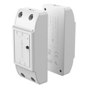 BlitzWolf® BW-SS4 Basic 2200W 10A 1/2 Way WIFI DIY Smart Switch Module Remote Control Socket Work with Google Assistant Amazon Alexa