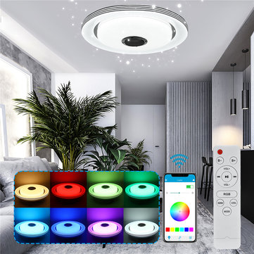 220V 48W Modern Dimmable 120LED RGBW Ceiling Light bluetooth Speaker Remote/APP Control