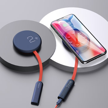 ROCK 15W 10W 7.5W 5W Double-sided Indicator Light Fast Charging Pad Suction Cup Wireless Charger For iPhone XS Max Huawei P30 Pro Mate 20 Pro Xiaomi Mi9 MIX 2S S10 S10+