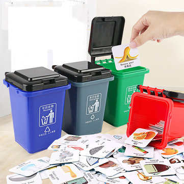 Trash Bin Classification Toy Early Education Garbage Classification Table Game Novelties Toys