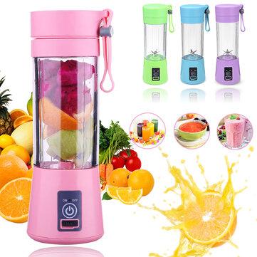 400ml 6 Blades USB Fruit Juicer Bottle Portable DIY Juicing Extracter Cup Machine