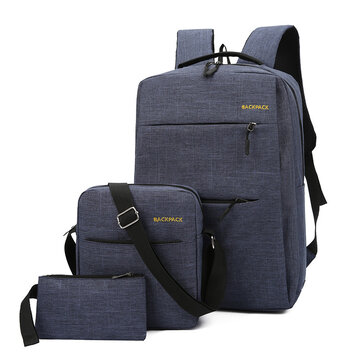 3 in 1 Laptop Bag for 15.6 Inch with External USB Charging Computer Backpack Casual Travel Business Huge Capacity