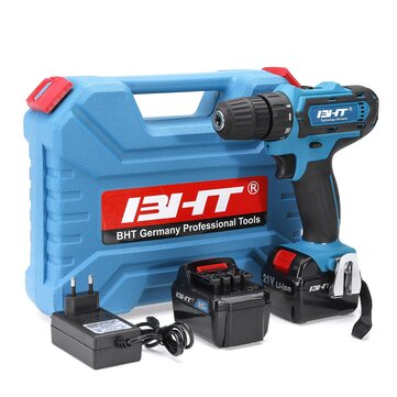 21V 2 Speed Brushless Li-ion Electric Drill Cordless Impact Drill Tools 35Nm 2 Speeed Power Drills