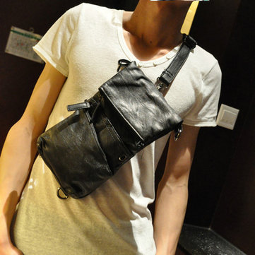 Men Faux Leather Crossbody Bag for Business Fashion