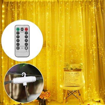 3M*1M 3M*3M USB LED Curtain Window String Light with Hook Up Icicle Garland Christmas Wedding Lamp Decor