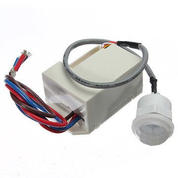 220V Mini PIR Motion Sensor Detector 12V DC Timer Relay Relay Automotive Caravan Alarm