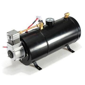 12Volt 120PSI Air Compressor 0.7 Gallon Tank Pump For Air Horn Vehicle Truck