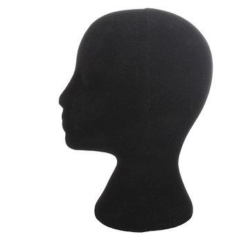 Female Black Styrofoam Mannequin Head Stand Model