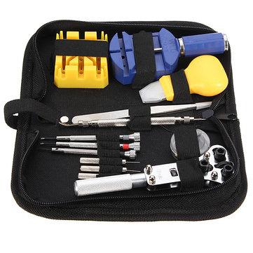 Watch Repair Tool Kit Set Case Pembuka Tautan Spring Bar Tweezer