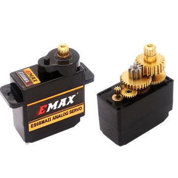 Servo análogo da engrenagem do metal de EMAX ES08MA II 12g mini para o modelo de RC