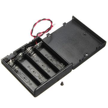 4 X単三電池ホルダーケース同梱箱ワイヤー付きOFF / ONスイッチ