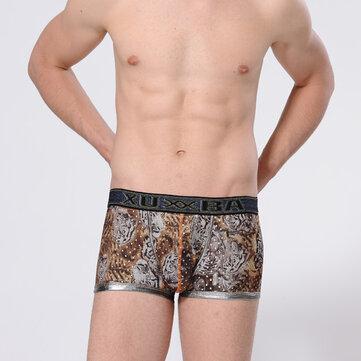 पुरुषों सेक्सी टाइगर प्रिंटिंग बॉक्सर्स आरामदायक आरामदायक अंडरवियर फैशन अंडरपैंट