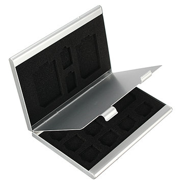 13 In 1 Portable Aluminum Storage Box Case For TF SD Card
