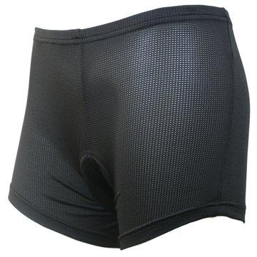 Arsuxeo mujeres deportivos pantalones cortos de ciclista montando los pantalones cortos de la ropa interior con el cojín de silicona negro