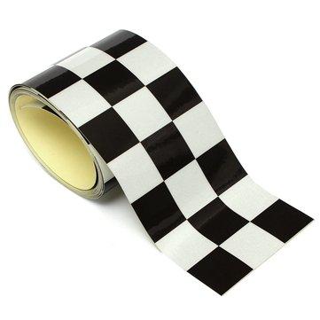 3 Inch Black White Checkered Flag Vinyl Decal Tape Car motorcycle Bike Tank Sticker