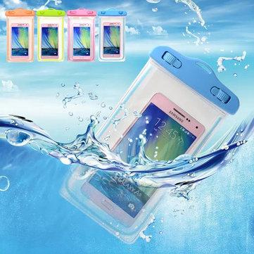 Túi chống nước trong suốt phổ 6 inch huỳnh quang trong suốt dưới nước