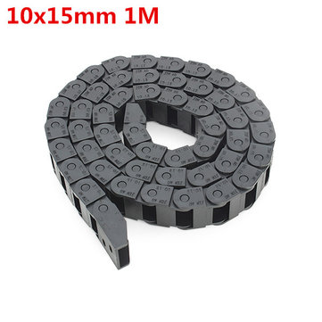 Machifit 10 x 15mm Plastic Cable Drag Chain Wire Carrier Length 1000mm For CNC Router Machine