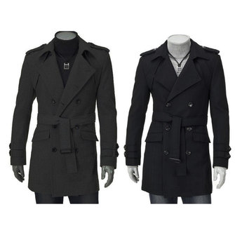 Buy Owing to its fine workmanship, fashion design and high quality cotton material,this double breasted men's coat is very popular in the market.This cotton long jacket is very comfortable to wear and touch.  with 1 on Gipsybee.com