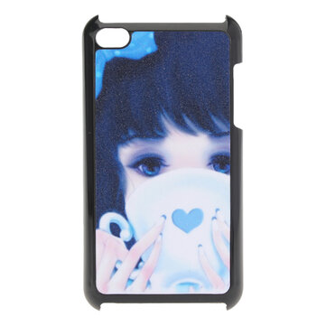 Blue Cute Girl Hard Back Vỏ nhựa Bao da cho iPod Touch 4